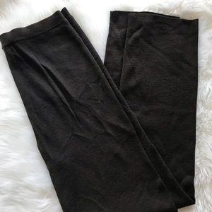 Eileen Fisher chocolate brown wool pants